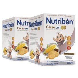 Nutriben Papilla Cacao Con Galletas Duplo (2x500g)