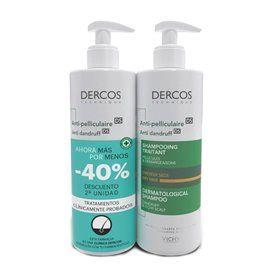 Dercos Anti Dry Dandruff Shampoo 2x400Ml