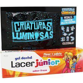 Lacer Junior Gel Dental 75Ml Fresa + Criaturas Luminosas