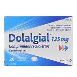 Dolalgial 125 Mg 20 Coated Tablets