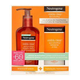 Neutrogena Visible Clear Hidratante Oil Free 50Ml + Gel Limpieza 200Ml