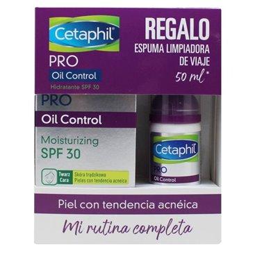 Cetaphil Pro Oil Control Hidrat Spf30 118Ml + Espuma Limpiadora 50Ml