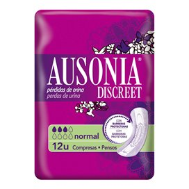 Absorb Inc Orina Muy Ligera Ausonia Discreet Normal 12 U