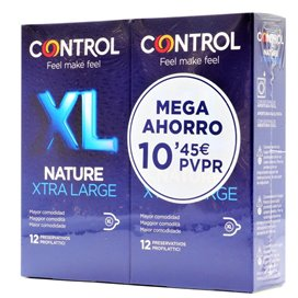 Control Nature Xl Preservativos 12 + 12 Unidades Pack Ahorro