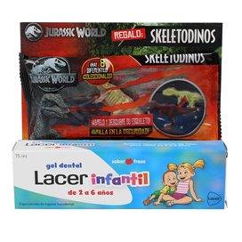 Lacer Gel Dental Infantil 75Ml + Dinosaurio Luminoso