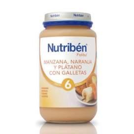 Nutriben Manzana Naranja Platano y Galleta Potito Grandote 250 G