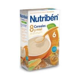 Nutriben Papilla 8 Cereales y Miel 4 Frutas 600 G