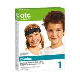 OTC Pack Tto Completo Antipiojos Permetrina 1.5% Antipiojos Locion y Champu EN