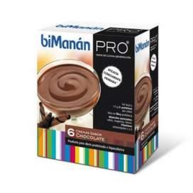 Bimanan Pro Crema Dieta Hiperproteica Hipocalorica 270 G 45 G X 6 U Chocolate