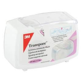 3M Esparadrapo Hipoalergico Transpore Plastico Corta Facil 5 M X 2,5 Cm