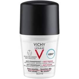 Vichy Homme Hombre Desodorante 48H Antimanchas Roll On 50 Ml