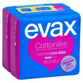 Compresas Evax Cottonlike Normal Alas 16U