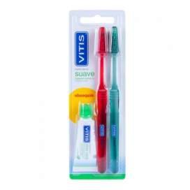 Vitis Cepillo Dental Adulto Suave Duplo 2U