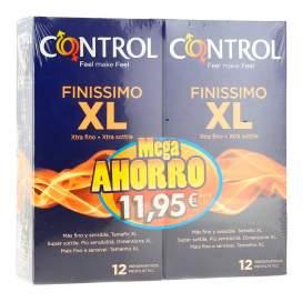 Control Finissimo Xl Preservativos 2x12U Pack Ahorro