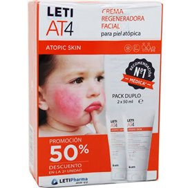 Leti At4 Crema Regeneradora Facial Duplo 2x50Ml