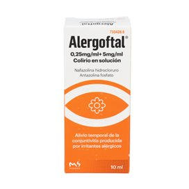 Alergoftal 5/0.25 Mg/Ml Colirio 1 Frasco Solucion 10 Ml