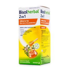 Bisolherbal 2 En 1 Malvavisco, Tomillo Y Llanten 120Ml