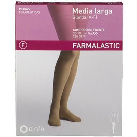 Farmalastic Media Larga (A-F) Comp Fuerte Banda Silicona T Reina Plus