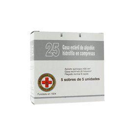 Gasa Esteril Algodon Hidrofilo Gran Cruz Sobre 25U